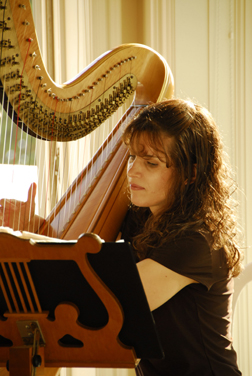 Harpist Pamela Brown
